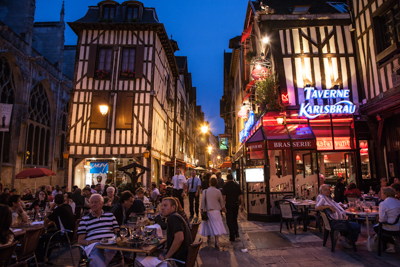 Troyes at night